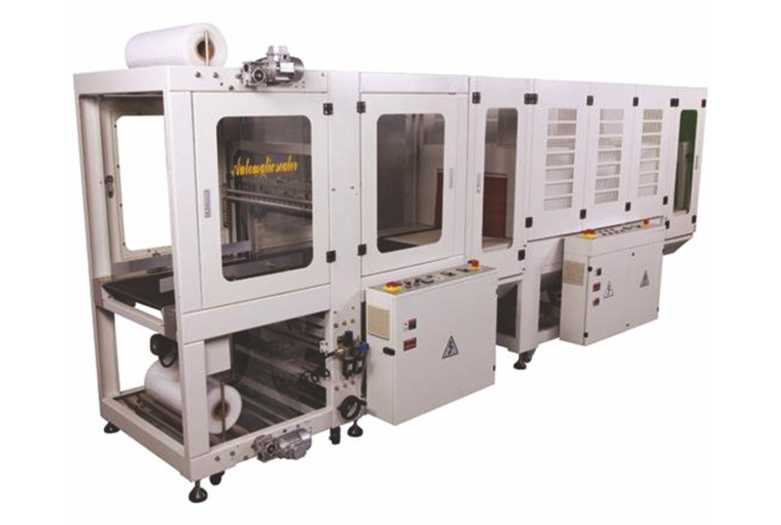 Automatic Sleeve Wrapper - Web Sealer with Shrink Tunnel - Frontal Feeding Type